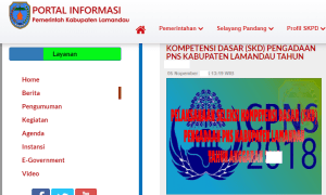 Pengumuman Hasil Tes CAT SKD CPNS Kabupaten Lamandau 2018