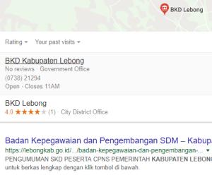 Pengumuman Hasil Tes SKD CPNS Kabupaten Lebong 2018