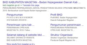 Pengumuman Hasil Tes SKD CPNS Kabupaten Magetan 2018