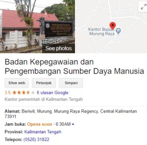 Pengumuman Hasil Tes CAT SKD CPNS Kabupaten Murung Raya 2018