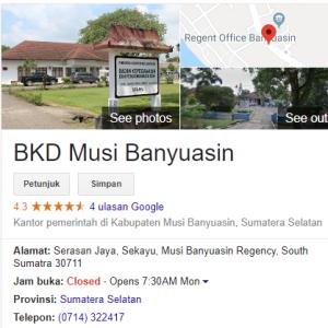 Pengumuman Hasil Tes SKD CPNS Kabupaten Musi Banyuasin 2018