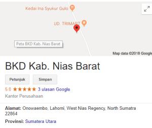 Pengumuman Hasil Tes SKD CPNS Kabupaten Nias Barat 2018