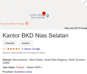 Pengumuman Hasil Tes SKD CPNS Kabupaten Nias Selatan 2018