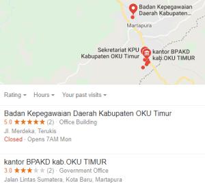 Pengumuman Hasil Tes SKD CPNS Kabupaten Oku Timur 2018