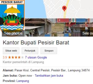 Pengumuman Hasil Tes SKD CPNS Kabupaten Pesisir Barat 2018