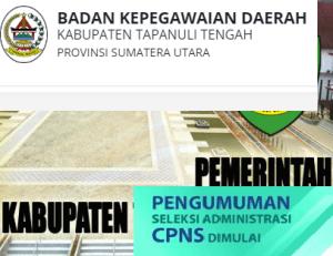 Pengumuman Hasil Tes SKD CPNS Kabupaten Tapanuli Tengah 2018