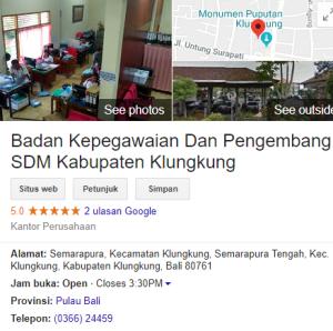 Pengumuman Hasil Tes SKD CPNS Kabupaten Klungkung 2018