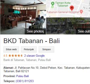 Pengumuman Hasil Tes SKD CPNS Kabupaten Tabanan 2018