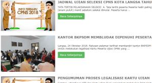 Pengumuman Hasil Tes SKD CPNS Kota Langsa 2018