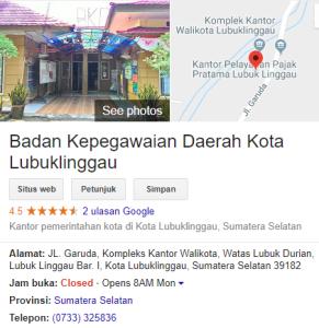 Pengumuman Hasil Tes SKD CPNS Kota Lubuklinggau 2018