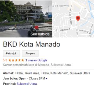 Pengumuman Hasil Tes CAT SKD CPNS Kota Manado 2018