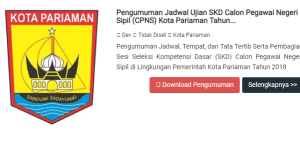 Jadwal SKB CPNS Kota Pariaman 2019 2020