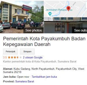 Pengumuman Hasil Tes SKD CPNS Kota Payakumbuh 2018