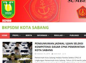 Pengumuman Hasil Tes SKD CPNS Kota Sabang 2018
