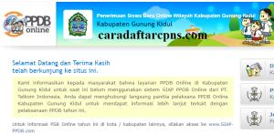 PPDB SMP Kabupaten Gunung Kidul