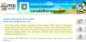 PPDB SMP Kabupaten Bangka Barat