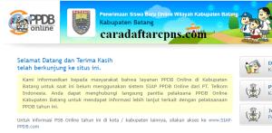 Pendaftaran PPDB Online SMA Kabupaten Batang 2019 2020
