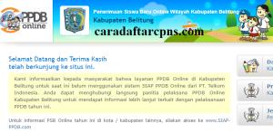 Jadwal PPDB SMA SMK Negeri Kab Belitung 2020 2021