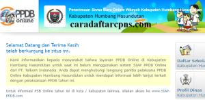 Jadwal PPDB SMA SMK Negeri Kab Humbang Hasundutan 2020 2021