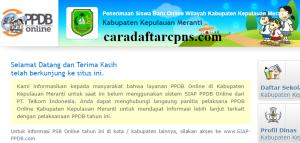 Jadwal PPDB SMA SMK Negeri Kab Meranti 2020 2021