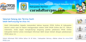 Jadwal PPDB SMA SMK Negeri Kab Kerinci 2020 2021