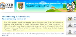 PPDB SMP Kabupaten Lampung Timur