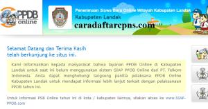 Jadwal PPDB SMA SMK Negeri Kab Landak 2020 2021