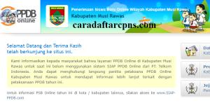 Jadwal PPDB SMA SMK Negeri Kab Musi Rawas 2020 2021