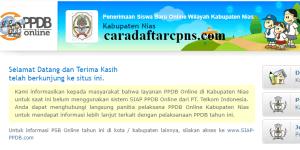 Jadwal PPDB SMA SMK Negeri Kab Nias 2020 2021