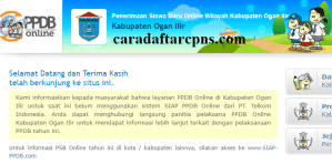 Jadwal PPDB SMA SMK Negeri Kab Ogan Ilir 2020 2021