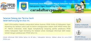 PPDB SMP Kabupaten Ogan Komering Ulu Selatan
