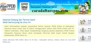 PPDB SMP Kabupaten Pasaman Barat