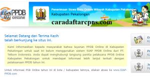 Pengumuman Hasil PPDB SMA SMK Negeri Kabupaten Pekalongan 2020 2021