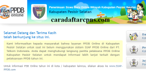 Jadwal PPDB SMA SMK Negeri Kab Pesisir Selatan 2020 2021