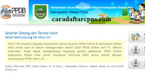 Pendaftaran PPDB Online SMA Kabupaten Rokan Hulu 2019 2020