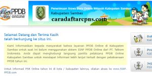 Jadwal PPDB SMA SMK Negeri Kab Sambas 2020 2021