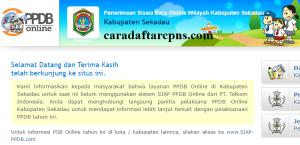 Jadwal PPDB SMA SMK Negeri Kab Sekadau 2020 2021