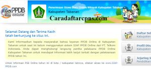 Jadwal Pendaftaran PPDB SMP Kab Tabanan 2020 2021