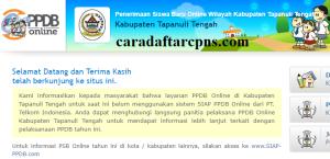 Jadwal Pendaftaran PPDB SMP Kab Tapanuli Tengah 2020 2021