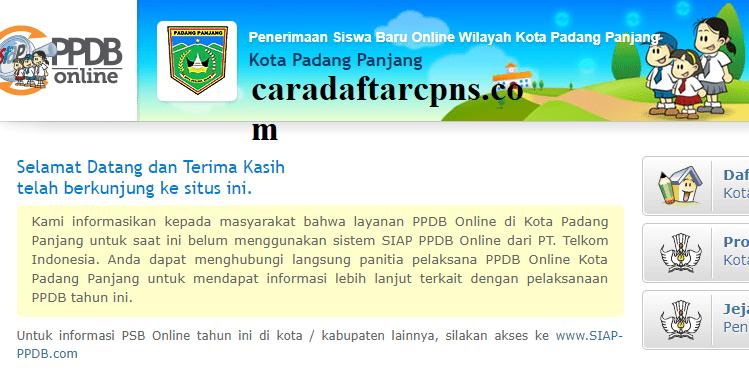 Jadwal dan Syarat pendaftaran PPDB SMP Kota Padang Panjang ...