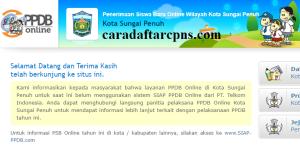 Jadwal Pendaftaran PPDB SMA Kota Sungai Penuh 2020 2021
