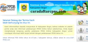 Jadwal PPDB SMP Kabupaten Bogor