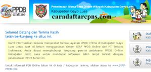 Jadwal Pendaftaran PPDB SMA SMK Negeri Kab Gayo Lues 2020/2021