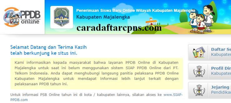 Jadwal Pendaftaran PPDB SMA SMK Negeri Kab Majalengka 2020/2021