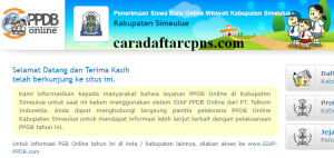 Jadwal Pendaftaran PPDB SMA SMK Negeri Kab Simeulue 2020/2021
