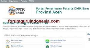 Pengumuman Hasil Seleksi PPDB SMA SMK Negeri Provinsi Aceh 2020/2021