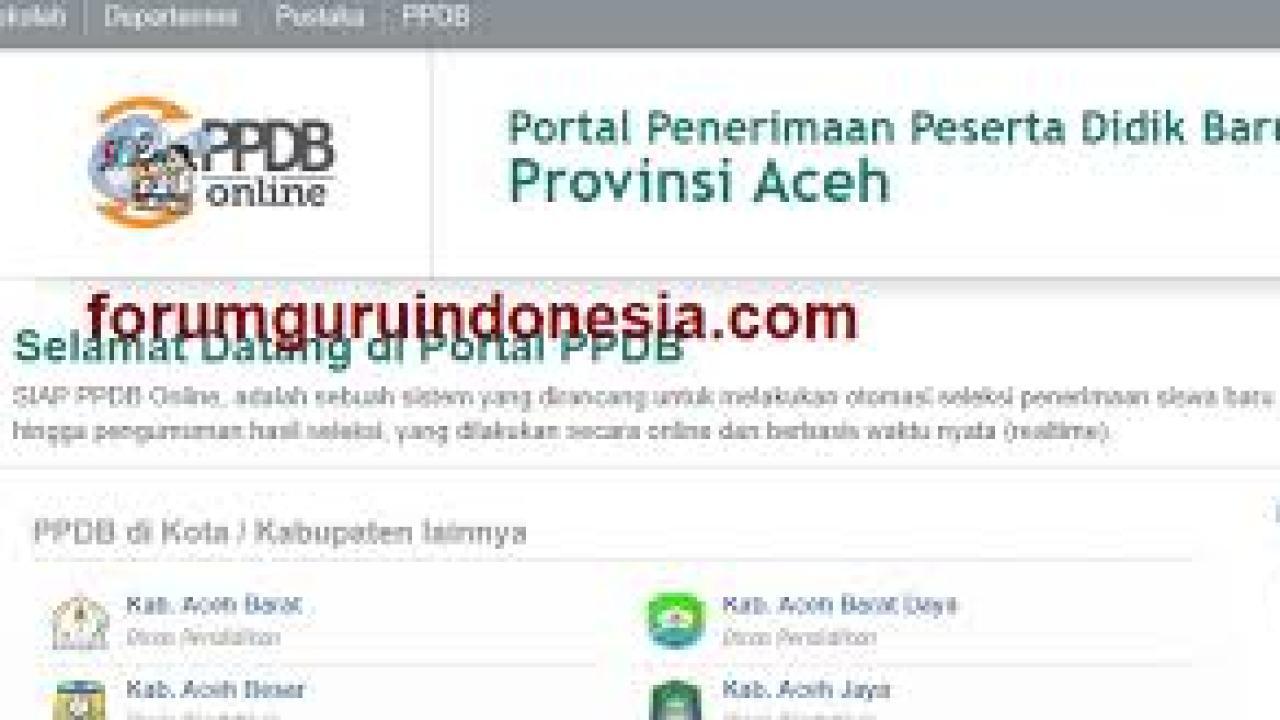 Jadwal Pendaftaran Ppdb Sma Smk Negeri Provinsi Aceh 2021 Soal Skd Skb