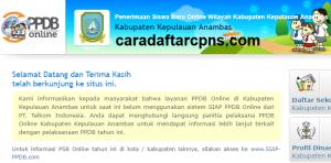 Jadwal PPDB SMA SMK Negeri Kab Anambas 2020 2021