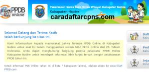 Jadwal PPDB SMA SMK Negeri Kab Nabire 2020 2021