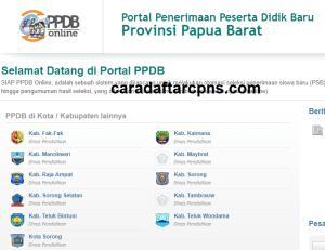 Pendaftaran PPDB Online SMA Kabupaten Pegunungan Arfak 2019 2020